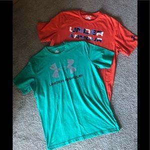 Bundle of 2 UA Under Armour tshirts. Large